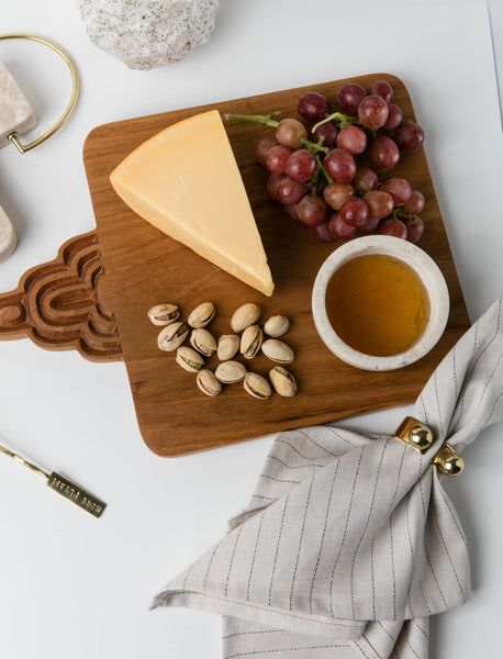Carved Teak Cheese Board  - 8.5
