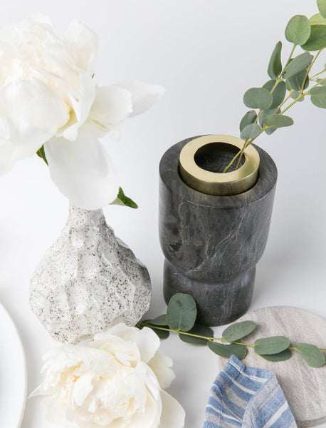 Marble Hourglass Sculpted Vase