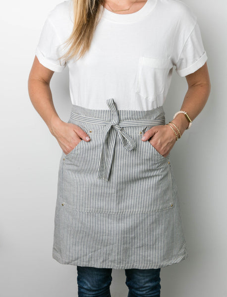Rivet + Blue Stripe Bistro Apron