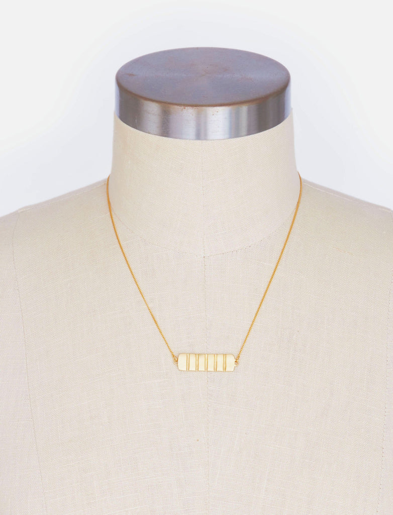 Ruled Plate Necklace