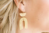 Geometric Brass Earrings