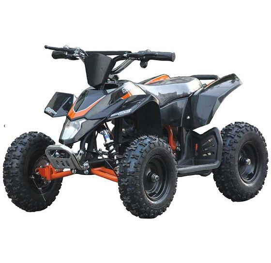 Go-Bowen Sahara X 350W 24V Kids Mini Quad, Black - XW-EA18-BLK - Charged Riders