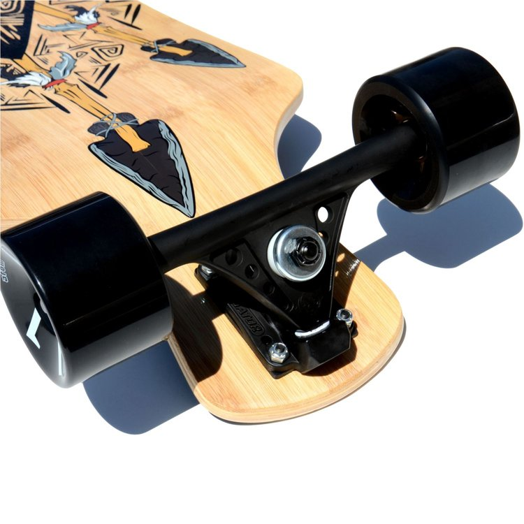 Atom Drop Deck Longboard - 39 Inch (Bamboo Tiki) - 40005 - Charged Riders