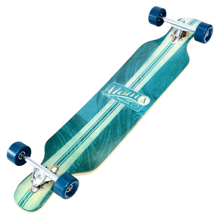 Atom Drop-Kick Longboard - 39 Inch (Artisan Blue) - 40008 - Charged Riders