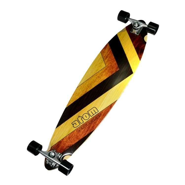 Atom Pintail Longboard - 39 Inch (Woody) - 40013 - Charged Riders