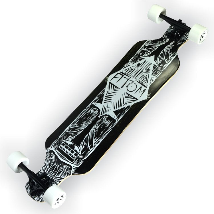 Atom Drop Deck Longboard - 39 Inch (Dark Tiki) - 40023 - Charged Riders