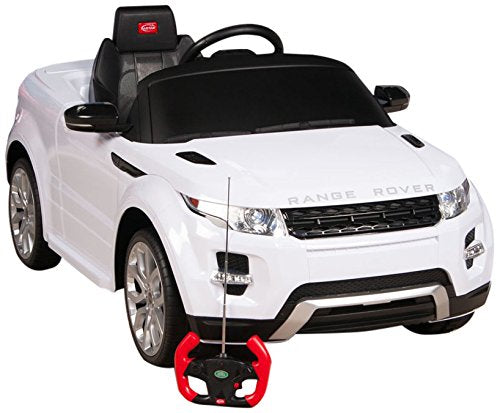 RastarUSA Range Rover Evoque Battery Operated/Remote Controlled Ride on Car  12V White - Charged Riders