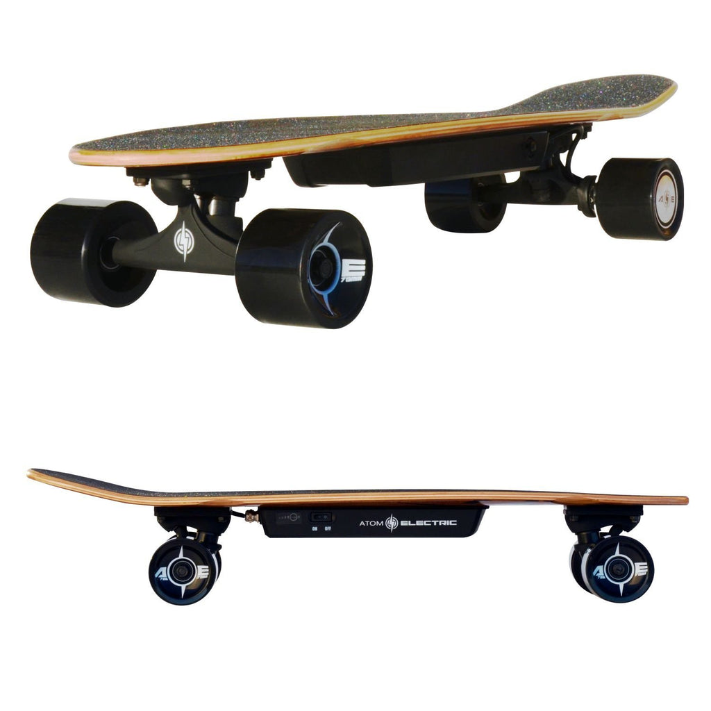 Atom Longboards Atom Electric H.4 Skateboard - 400W Hub Motor - 55Wh Li-Ion Battery - Charged Riders