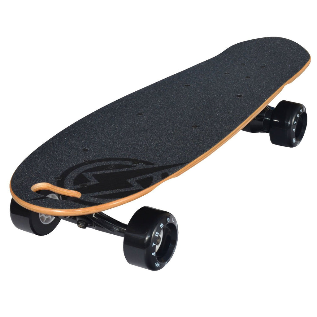 Atom Electric B.10 Skateboard - 1000W Belt Drive - 90Wh Li-Ion Battery, Brown, 29.5 - Charged Riders