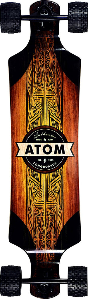 "Atom Longboards Atom All-Terrain Longboard - 39"" , Woody - Charged Riders"