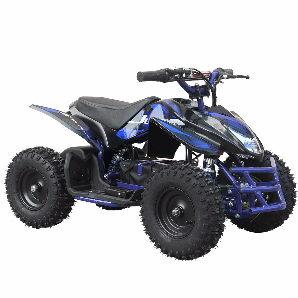 Go-Bowen Titan 24V 350W Electric Quad Battery-Powered MINI ATV, Blue - Charged Riders