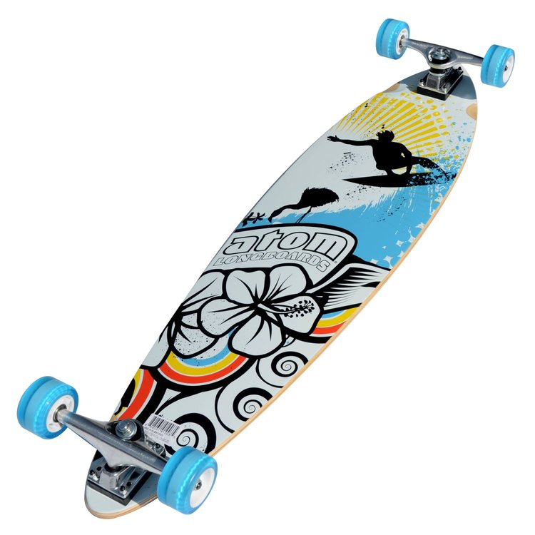 Atom Pin-Tail Longboard - 39 Inch (Surf) - 91003 - Charged Riders