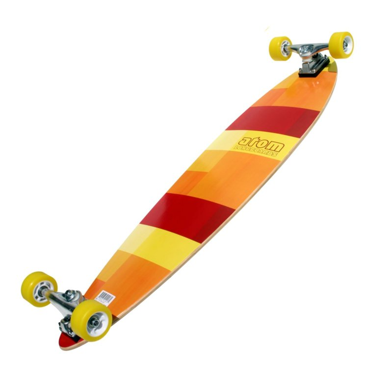 Atom Pin-Tail Longboard - 39 Inch (Orange) - 91043 - Charged Riders
