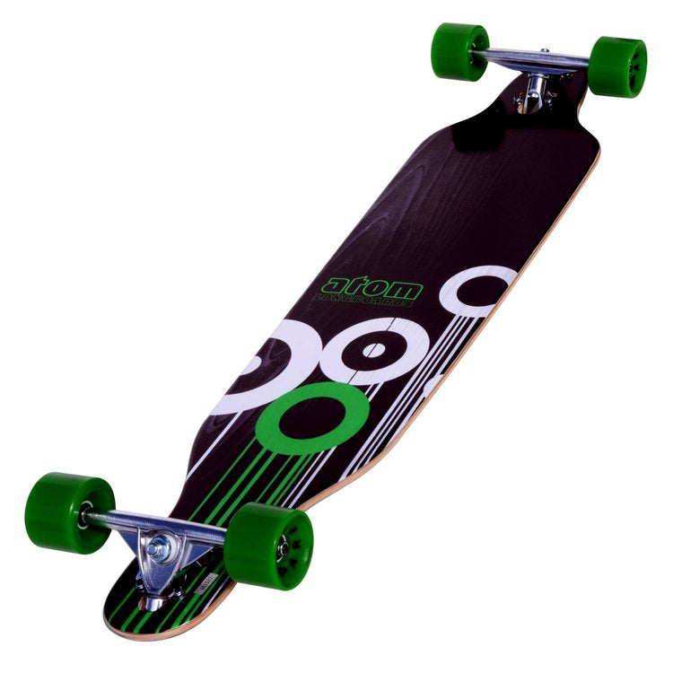 Atom Drop-Through Longboard - 41 Inch (Green) - 91047 - Charged Riders