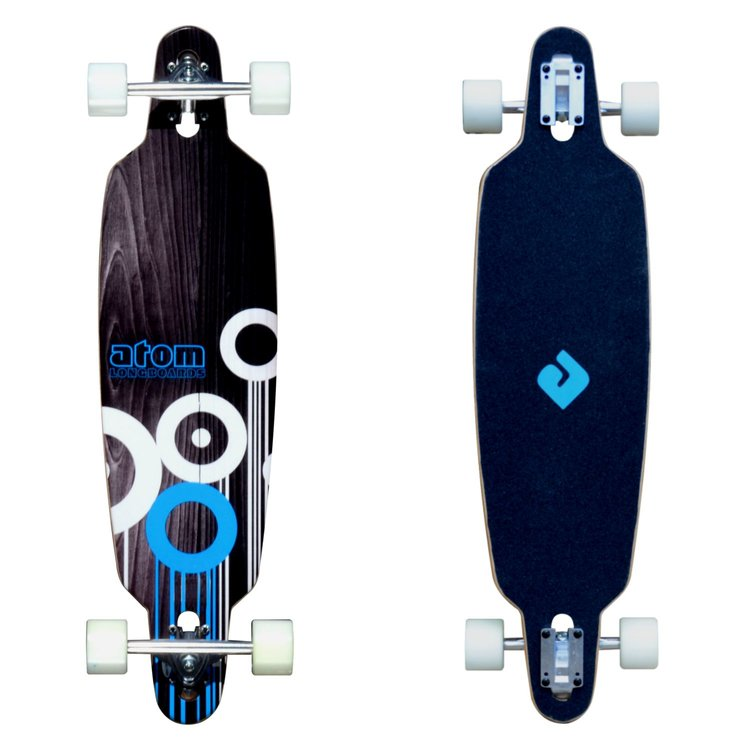 Atom Drop-Through Longboard - 36 Inch (Blue) - 91058 - Charged Riders