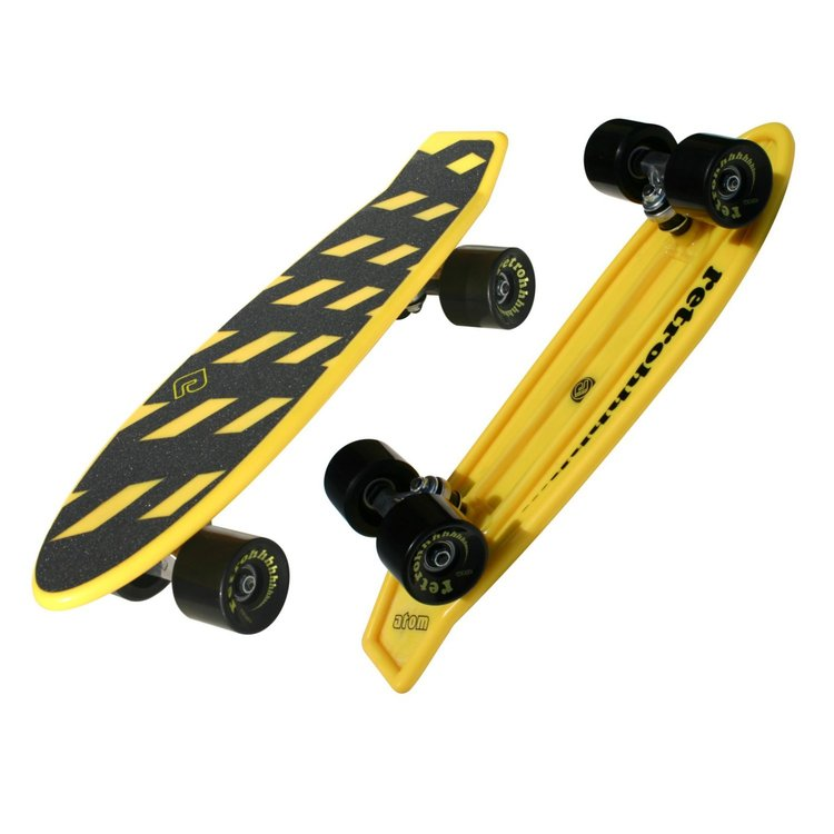 "Atom 21"" Mini Retroh Molded Skateboard - Yellow - 91060 - Charged Riders"