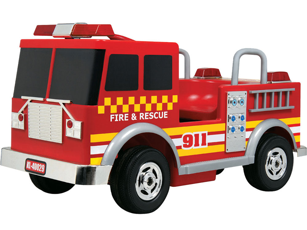 Kalee Fire Truck 12v Red - Charged Riders