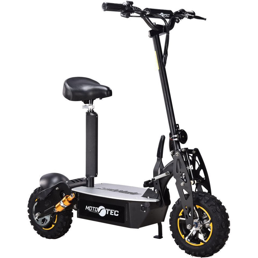 MotoTec 2000w 48v Electric Scooter Black - Charged Riders