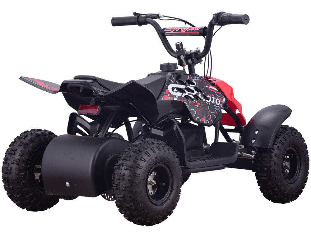 MotoTec 24v 250w ATV Mini Monster v1 Red - Charged Riders