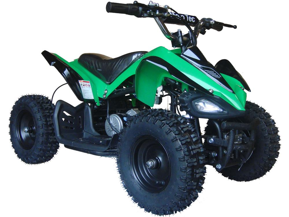 MotoTec 24v Mini Quad v2 Green - Charged Riders