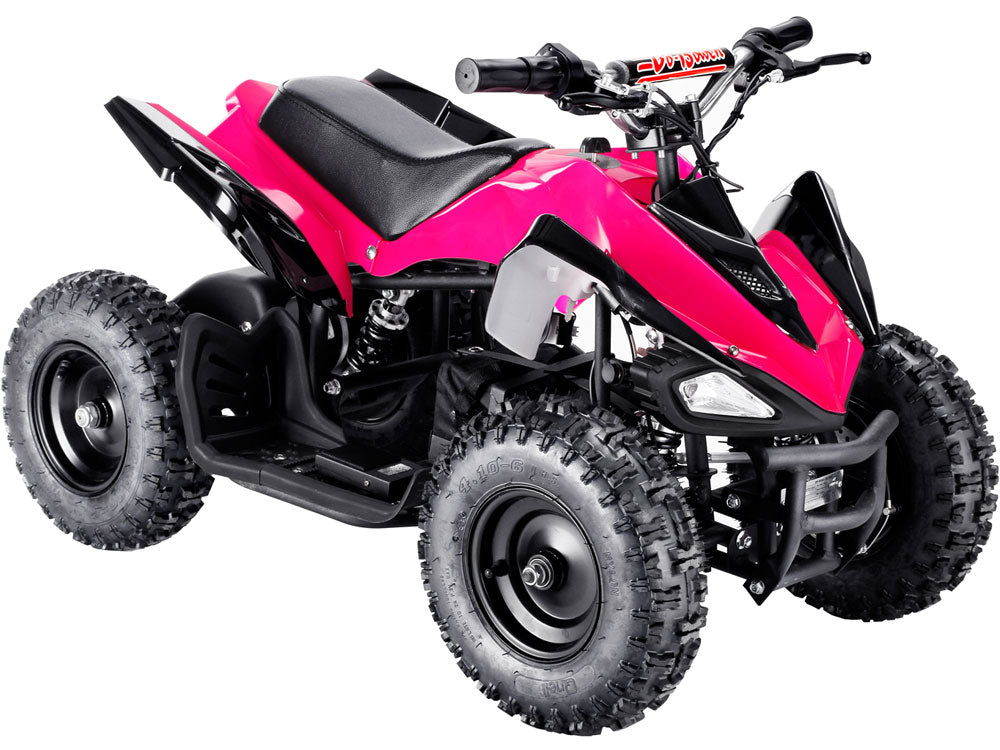 MotoTec 24v Mini Quad v2 Pink - Charged Riders