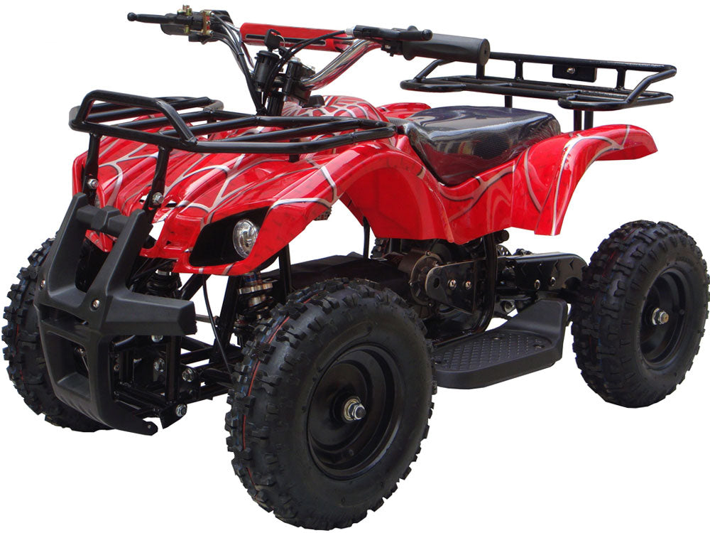 MotoTec 24v Mini Quad v4 Red - Charged Riders