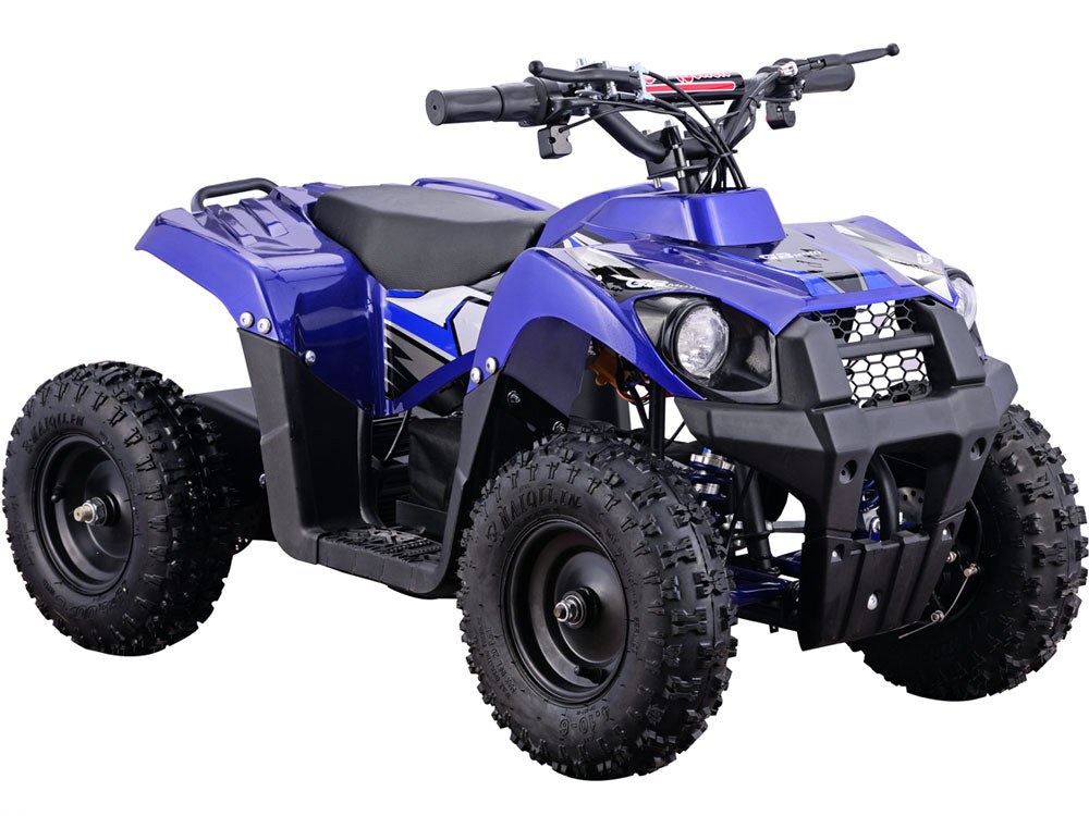 MotoTec 36v 500w ATV Monster v6 Blue - Charged Riders