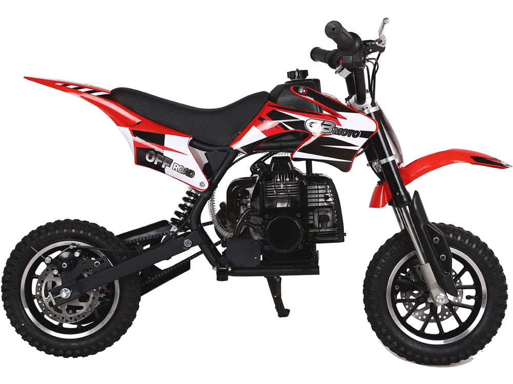 MotoTec 49cc GB Dirt Bike Red - Charged Riders