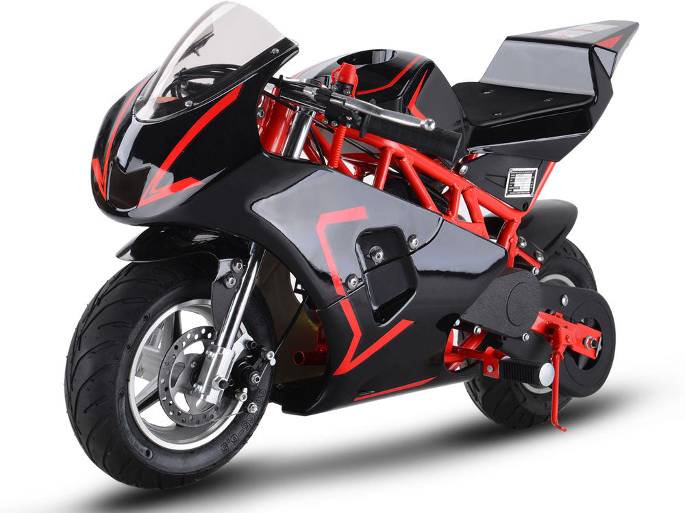 MotoTec Gas Pocket Bike GP 33cc 2-Stroke Red - Charged Riders