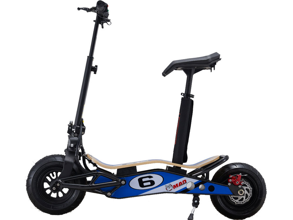 MotoTec MiniMad 800w 36v Lithium Electric Scooter - MT-MiniMad-800_Blue - Charged Riders