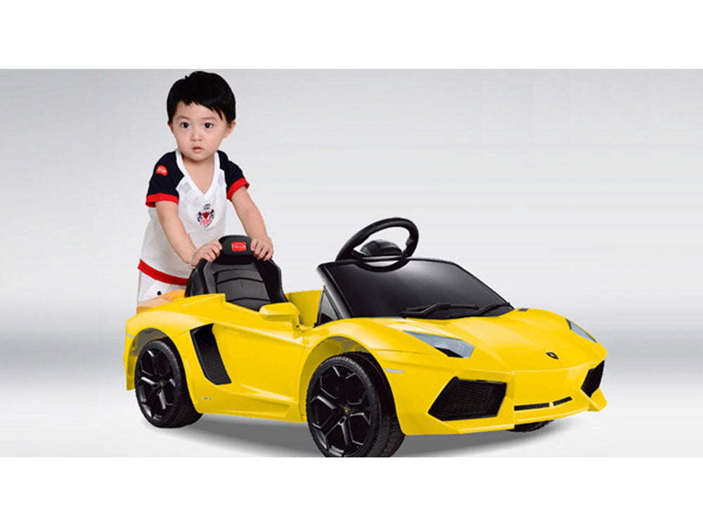 Rastar Lamborghini Aventador LP700-4 6v Yellow (Remote Controlled) - Charged Riders