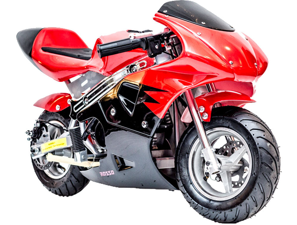 Rosso Gas Pocket Bike 33cc 2-Stroke Red - Charged Riders