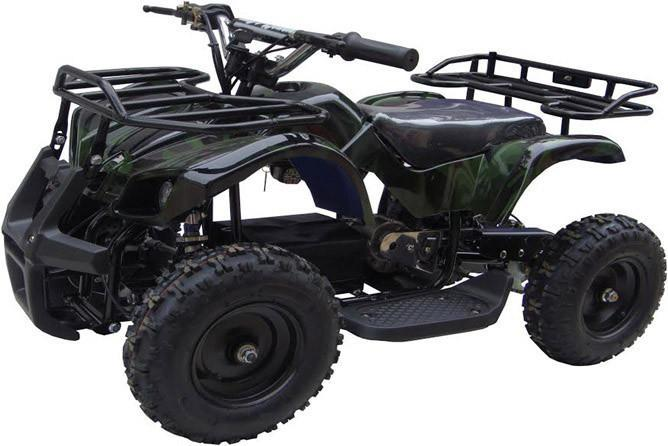 Go-Bowen Sonora 350W 24V Kids Mini Quad, Green Camo - Charged Riders