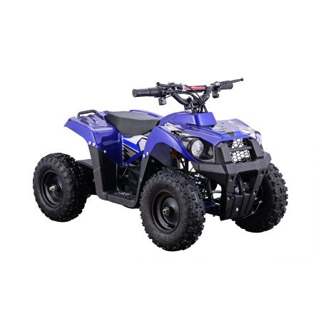 Go-Bowen Monster 500W 36V Mini Quad, Blue - XW-EA24-B - Charged Riders