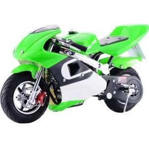 Go-Bowen 40cc Green Pocket Bike - G00002-G - Charged Riders