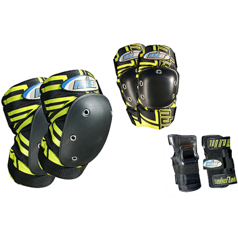 MBS PRO TRI-PACK PADS- BLACK / YELLOW(S) - Charged Riders