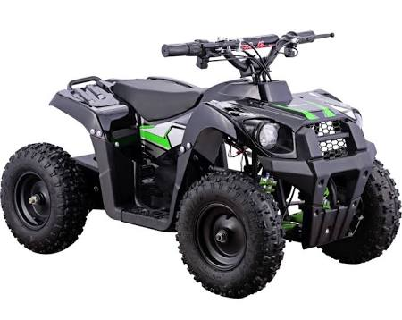 Go-Bowen Monster 500W 36V Mini Quad, Green - XW-EA24-G - Charged Riders