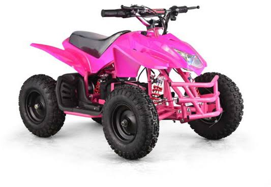 Go-Bowen Titan 350W 24V Kids Mini Quad, Pink - Charged Riders