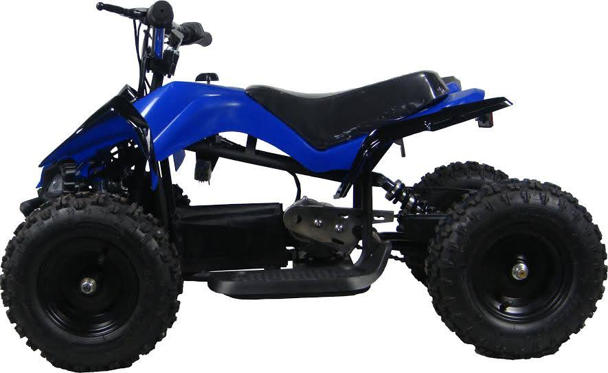 Go-Bowen Mars 350W 24V Kids Mini Quad, Blue - XW-EA15-B - Charged Riders