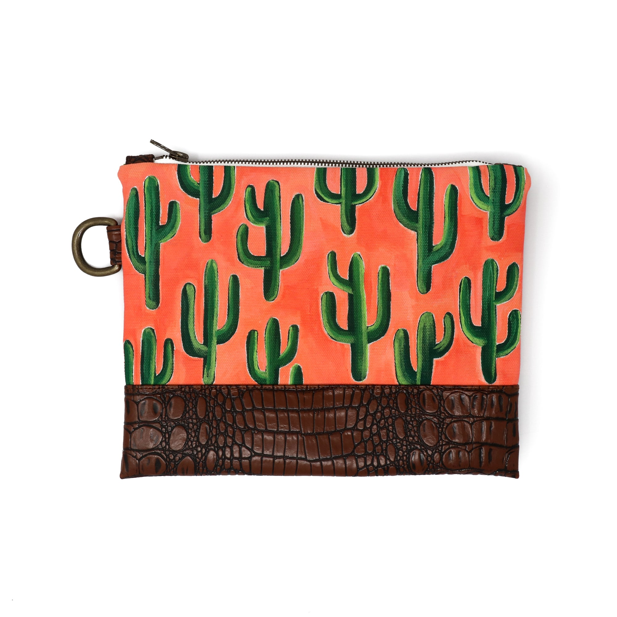 Saguaro Hand-Painted Clutch