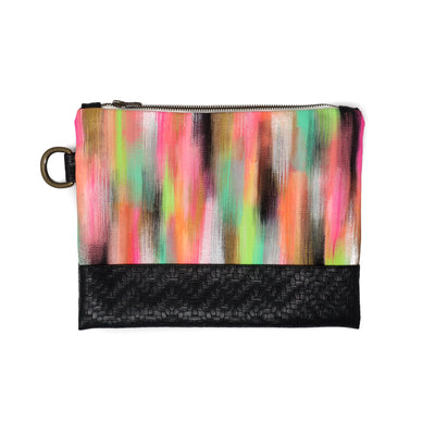 Waterfall Hand-Painted Clutch