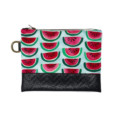 Watermelon Hand-Painted Clutch