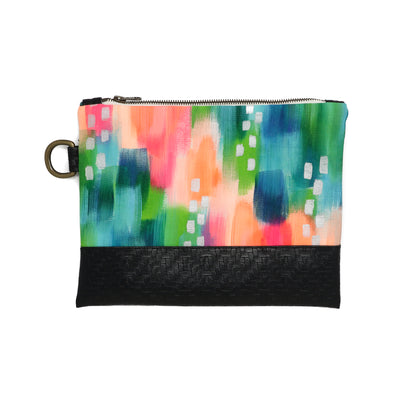 Lagoon Hand-Painted Clutch