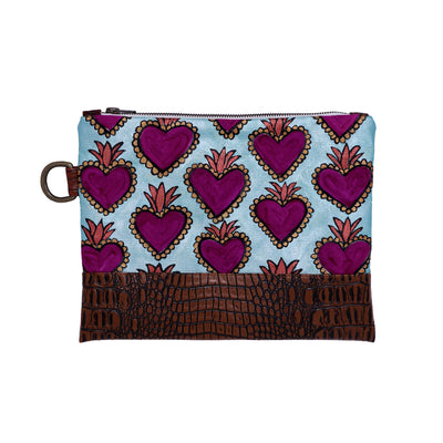 Purple Milagro Hand-Painted Clutch