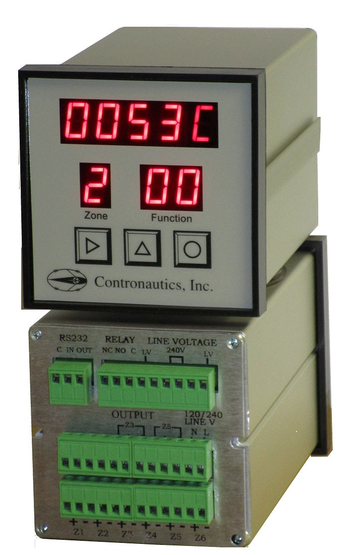 CN616P-Power with TRIAC Power Output of up to 2.4 Kilo Watt - Six Zone Thermocouple PID Programmable Temperature Controller - Output Profiles / Ramp and Soak / Autotune / Alarm - A/C