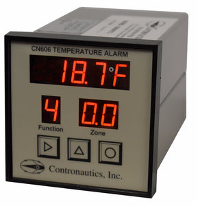 CN606NR Six Zone Thermistor LOW Temperature Monitor / Alarm / Recorder - A/C