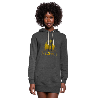 Haitian Independence Day (NEW YEAR) Hoodie Dress - heather black
