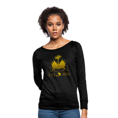 Haitian Independence Day (NEW YEAR) Women Crewneck Sweatshirt - black