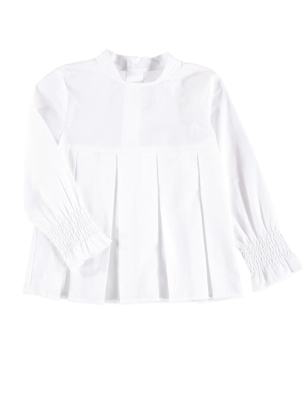 Skyrta WHITE PLEATED