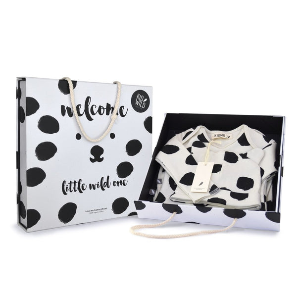 """Little Wild One"" Layette Gift Set - Dots"